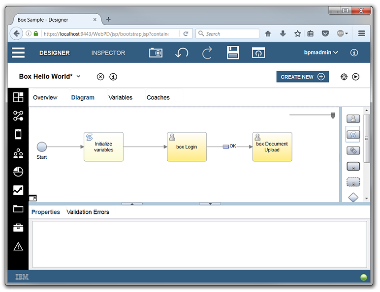 IBM BPM Box Integration