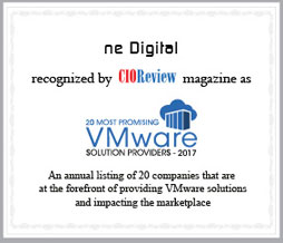 CIO Review Award - ne Digital 20 Most Promising VMware Solution Providers 2017