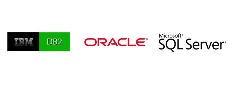 IBM DB2, Oracle and Microsoft SQL