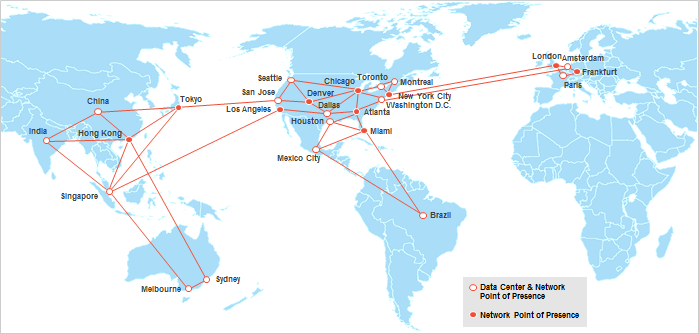 The IBM Cloud - SoftLayer Global footprint