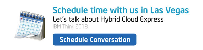 Schedule time with us at IBM Think 2018